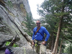 Rock Climbing Photo: Racked up and ready to go (except the helmet of co...