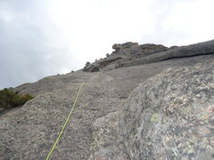 Rock Climbing Photo: High on the 2nd Pitch