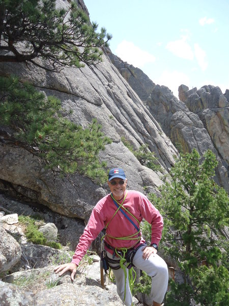 Rock Climbing Photo: My dad after climbing White Whale, a great day