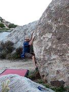 Rock Climbing Photo: Coco Crispies (V3), Culp Valley
