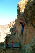 Rock Climbing Photo: Adam on Sexual Camel, looking for a tall man metho...