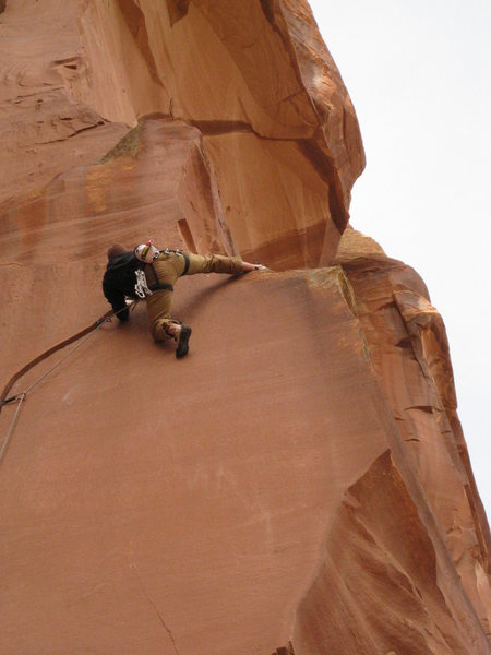 Rock Climbing Photo: moving to the anchor. Brian from WY