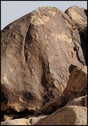 Rock Climbing Photo: The East Boulder. The Crack route traverses in fro...