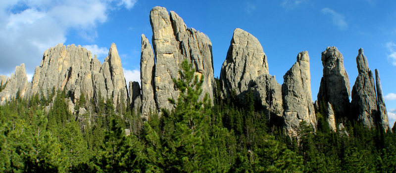 Rock Climbing Photo: Tusk is the formation to the left (northeast) of S...