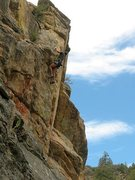 Rock Climbing Photo: Out of Sight (5.10b), 8000 Foot Crag