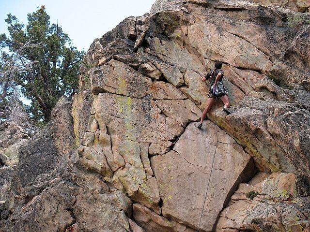 El Rayo (5.10b), 8000 Foot Crag