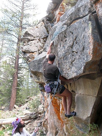 Rock Climbing Photo: The crux start of Talk to Me (5.11a), 8000 Foot Cr...
