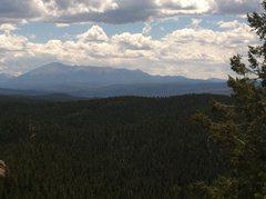 Rock Climbing Photo: Pikes Peak from Devils Head