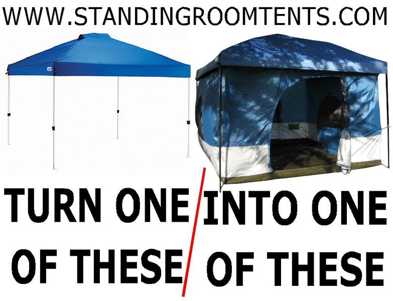 Rock Climbing Photo: You can convert a shade canopy into a VERY roomy t...