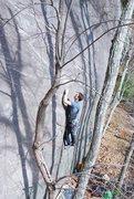 Rock Climbing Photo: Frost Walker starting the climb