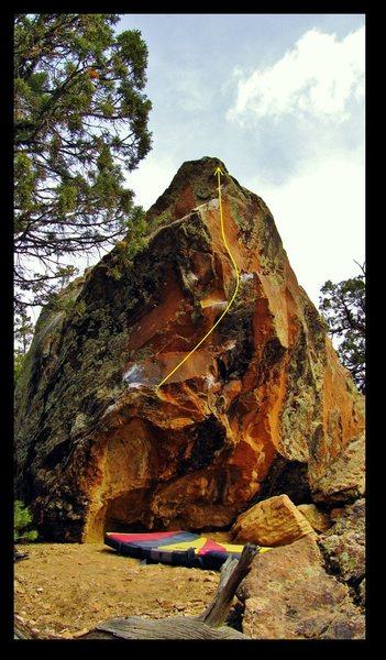 Rock Climbing Photo: Weeperhorn problem beta.