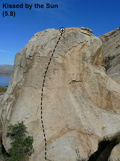 Kissed by the Sun (5.8), Lake Perris SRA<br>
