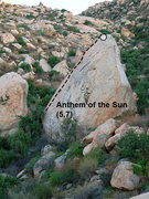 Rock Climbing Photo: Anthem of the Sun (5.7), Lake Perris SRA