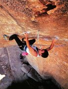 Rock Climbing Photo: Randy Leavitt on Hydra (5.13c), Joshua Tree NP  Ph...