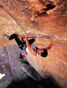Rock Climbing Photo: Randy Leavitt on Hydra (5.13c), Joshua Tree NP  Ph...