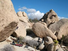Rock Climbing Photo: So High (V5 R), Joshua Tree NP