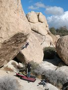 Rock Climbing Photo: So High (V5 R), Joshua Tree NP