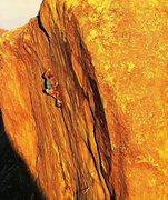 Rock Climbing Photo: Rudy Hofmeister on Ocean of Doubt (5.13b), Joshua ...