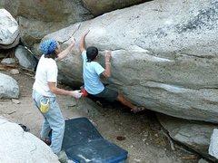 Rock Climbing Photo: Mangus (V5), Tramway