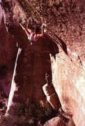 Rock Climbing Photo: Randy Leavitt on the FA of Hydra (5.13c), Joshua T...
