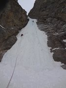 Rock Climbing Photo: Leading first pitch of the upper tier of Polar Cir...