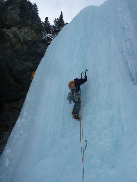 Rock Climbing Photo: Leading second pitch of Professor Falls