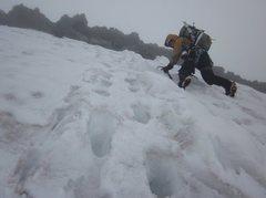Rock Climbing Photo: Traversing the lower Ptarmigan Ridge on route to h...