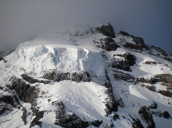 Hanging ice cliff of doom.