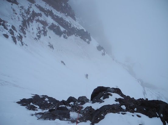 Big steep traverse.
