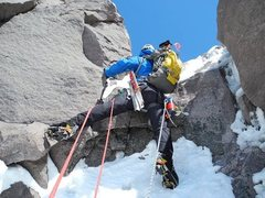 Rock Climbing Photo: The rock step. My heart was pounding!