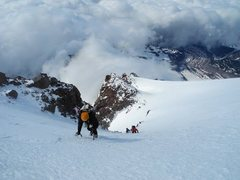 Rock Climbing Photo: Just above the technical section of the route with...