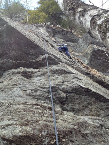 Rock Climbing Photo: Sydney (9yo) heading up the slabby section of Malt...