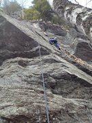Rock Climbing Photo: Sydney (9yo) heading up the slabby section of Malt...