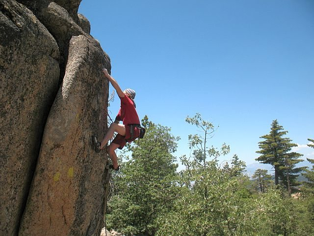 Rock Climbing Photo: The last hard moves of Dick (5.11b), Keller Peak