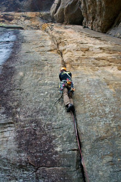 Rock Climbing Photo: beginning of perfect pint