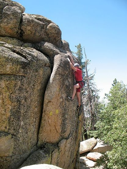 Rock Climbing Photo: The end of the difficulties on Dick (5.11b), Kelle...