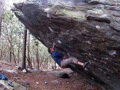 Rock Climbing Photo: Kent on Frites (V9), Olympus