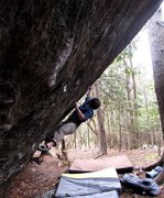 Rock Climbing Photo: Kent getting some steep bouldering action in on Fr...