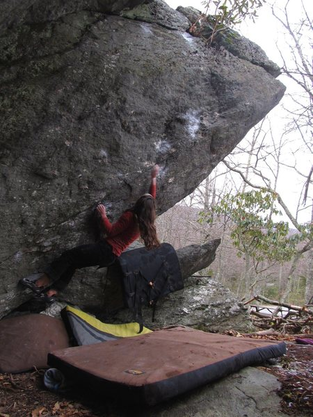Aubry on the first move in for the FFA of Dark Horse (V7).