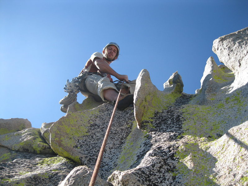 Rock Climbing Photo: Belay on top of Spooky, The Needles,Ca