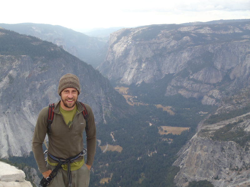 Top of Half Dome, after climbing Snake Dike