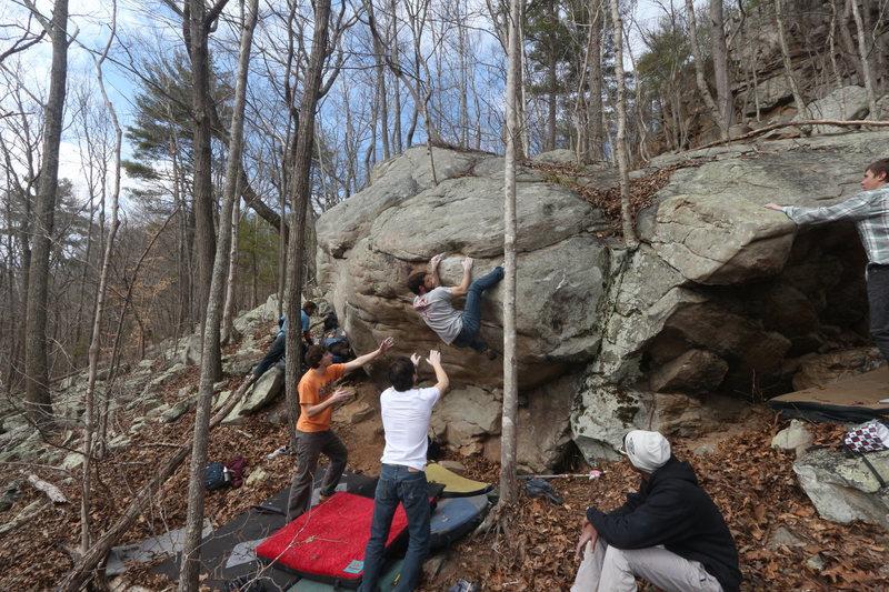 "Rock Climbing Photo: Josh Hepler Sending the ""Mental Mantle"""