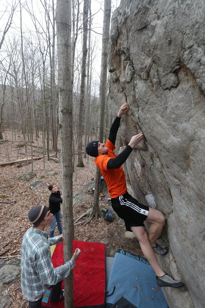 Rock Climbing Photo: Jimmy Kuhn Sending Firepole (V3)
