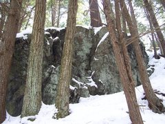 Rock Climbing Photo: I found this area while snowshoeing Beaver Brook t...