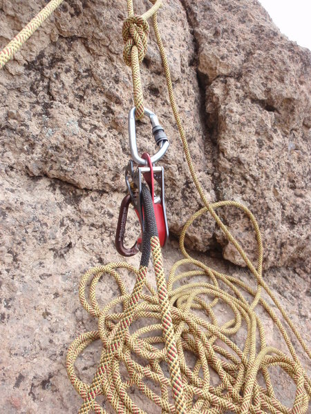 Alpine Smart belaying from anchor.