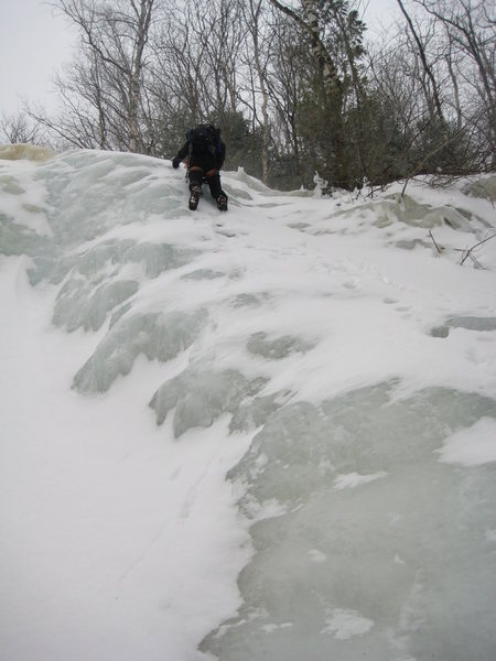 Some ice step again.  Lots of little ledges like this to scramble up!