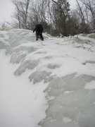 Rock Climbing Photo: Some ice step again.  Lots of little ledges like t...