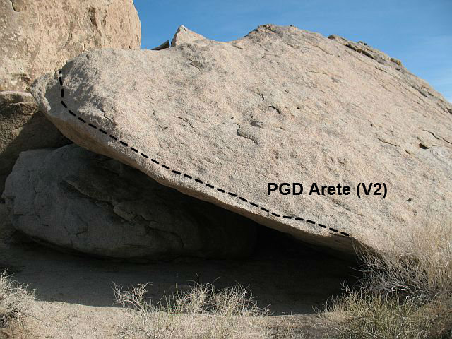 PGD Arete (V2), Joshua Tree NP