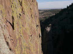Rock Climbing Photo: Ashton leaving the 3rd pitch belay - picture court...