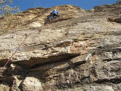 Rock Climbing Photo: Jimbo on the FA